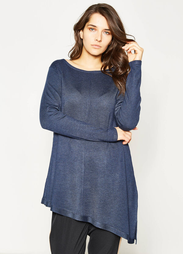 Curvy pullover with asymmetric hem | OVS