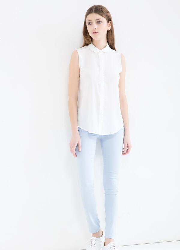 Pantaloni in misto cotone stretch | OVS