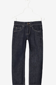 Jeans with zip fastening, Dark Wash, hi-res