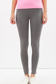 Plain sports leggings, Light Grey, hi-res