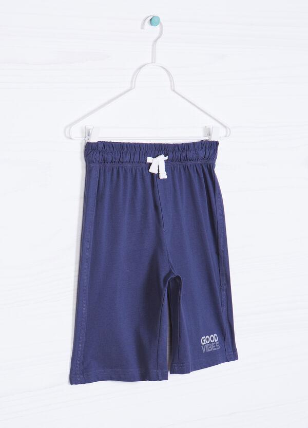 Solid colour 100% cotton Bermuda shorts. | OVS