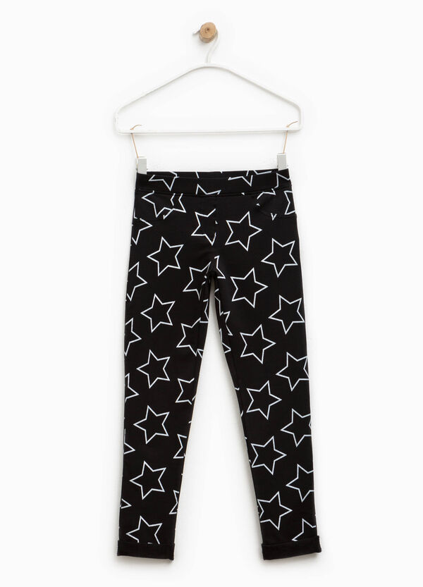 Jeggings stretch con stampa a stelle | OVS
