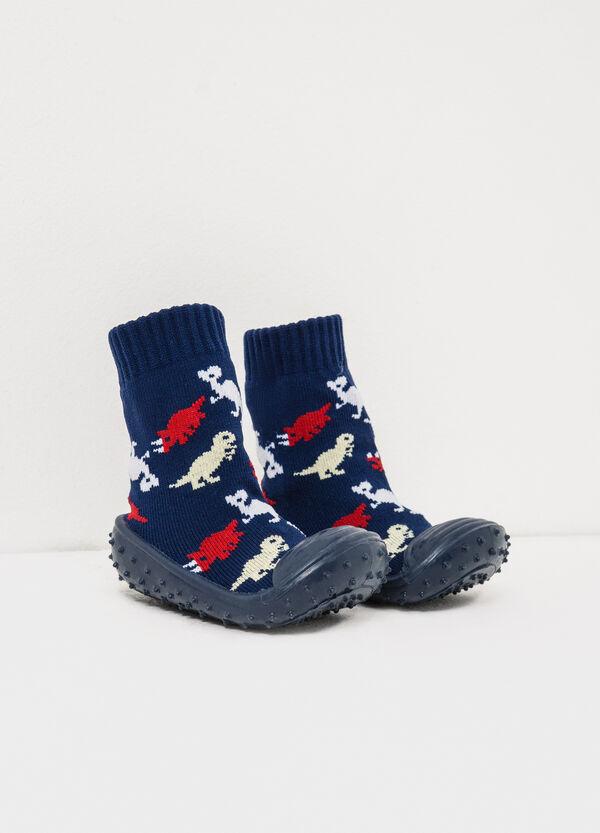 Dinosaur pattern sock slippers   OVS