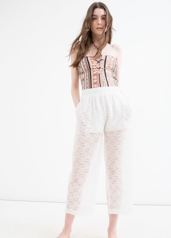 Lace trousers with high waist | OVS