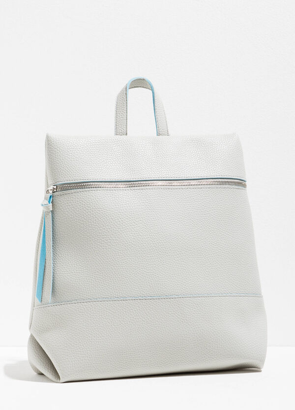 Textured-effect backpack with zip | OVS