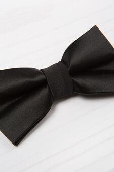 Satin bow tie, Black, hi-res