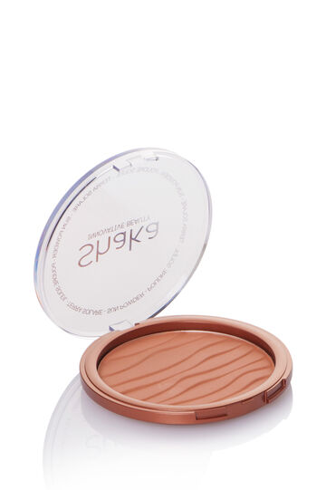Maxi pressed bronzer with case, Pink, hi-res