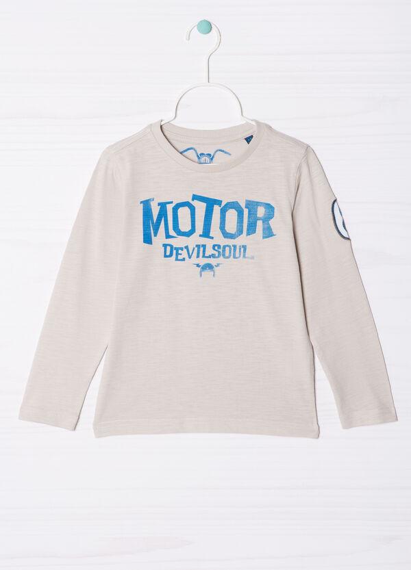 T-shirt puro cotone stampa lettering   OVS