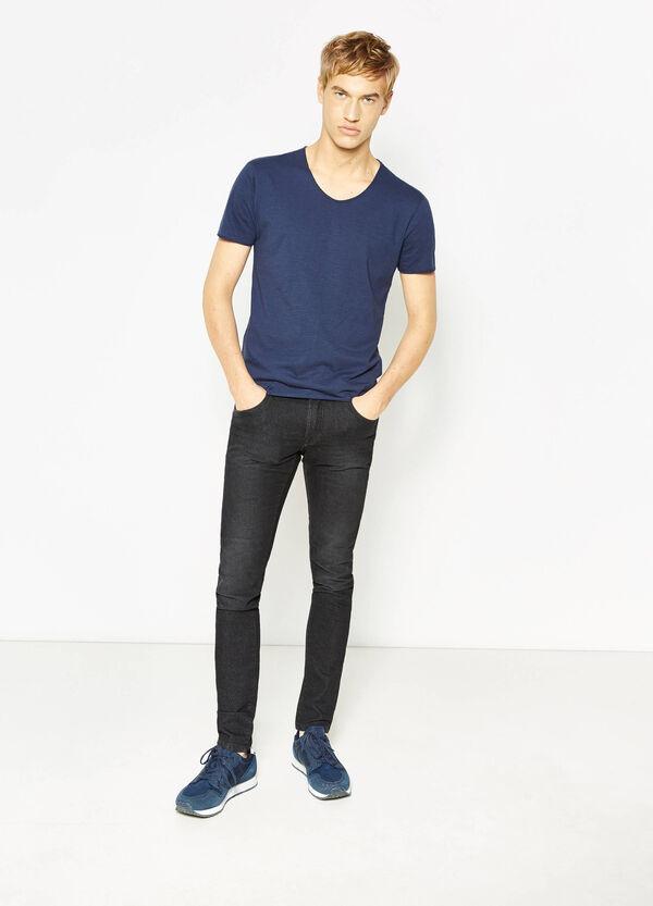100% cotton V-neck T-shirt   OVS