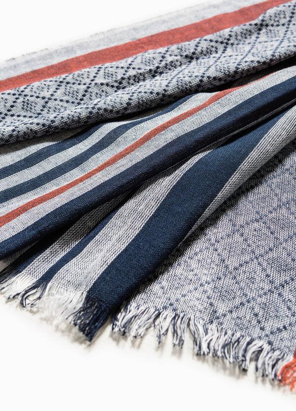 Bufanda de rayas de algodón y viscosa | OVS