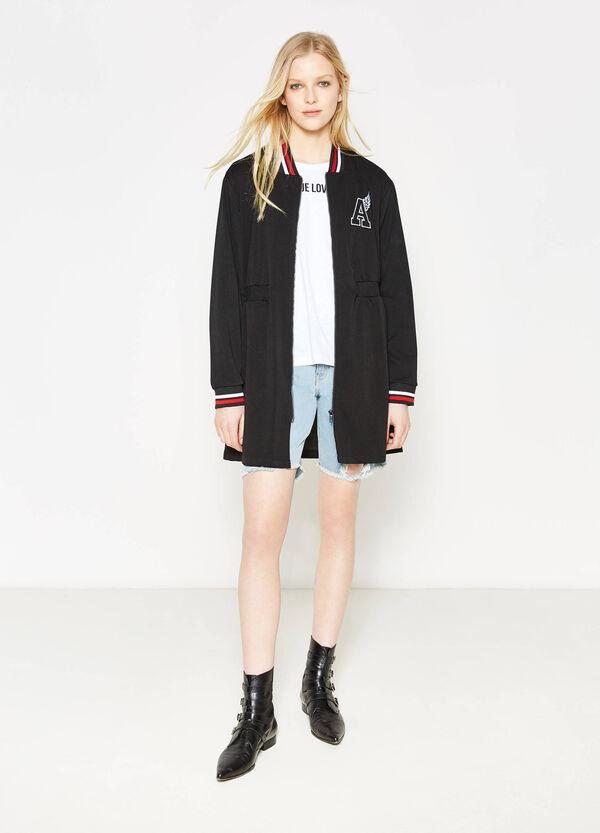 Long stretch sweatshirt with zip | OVS