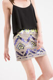 Miniskirt with sequins, Brown, hi-res