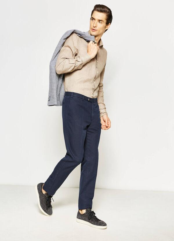 Camisa Rumford en lino de color liso | OVS