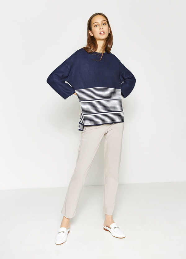 Striped knitted pullover | OVS