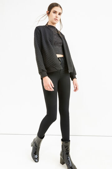 Solid colour, super skinny-fit stretch jeans, Black, hi-res