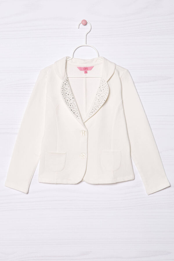 Fleece jacket with beads | OVS