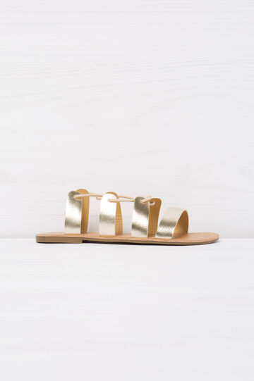 Sandals with elastic bands, Golden Yellow, hi-res