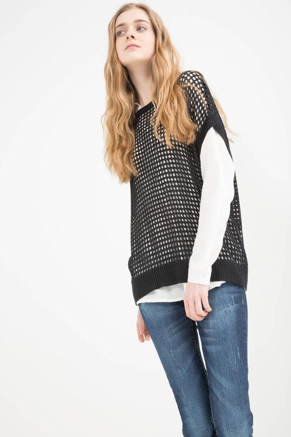 Solid colour 100% viscose pullover | OVS