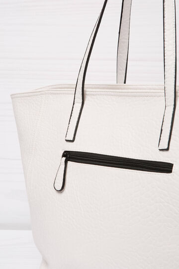 Borsa a spalla in similpelle, Bianco, hi-res