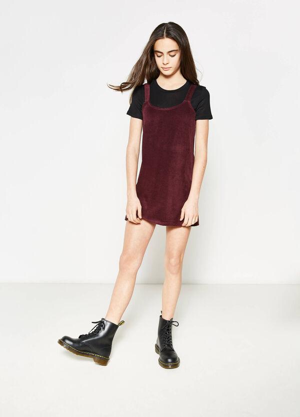 Vestido de algodón con trama de rayas Teen | OVS