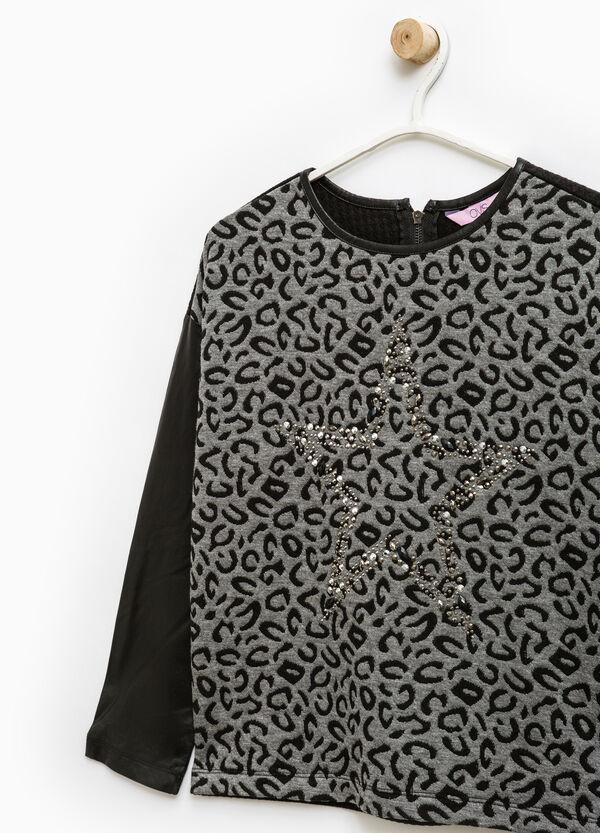 Stretch animal print sweatshirt | OVS