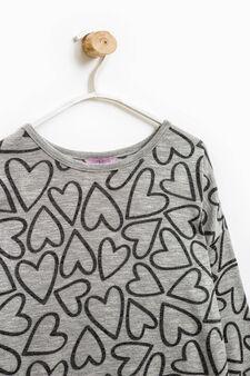 Patterned viscose blend pullover, Grey, hi-res