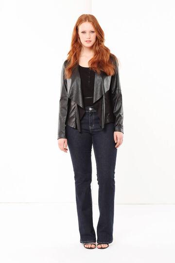 Curvyglam faux leather jacket