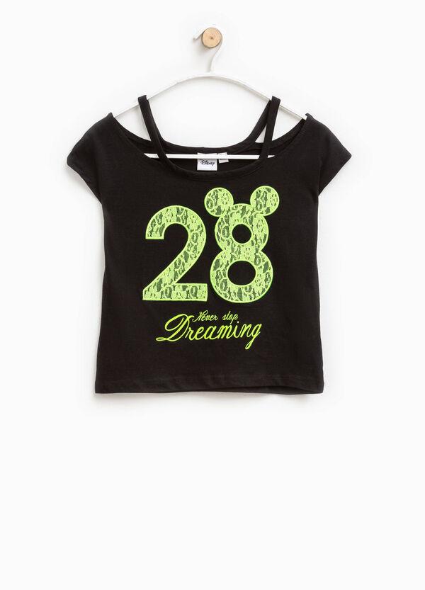 T-shirt con pizzo e stampa lettering | OVS
