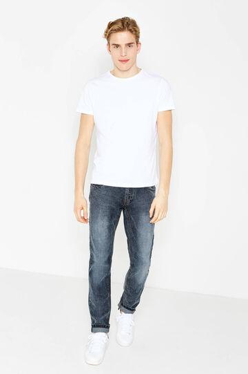 Jeans slim fit con effetto maltinto, Lavaggio scuro, hi-res