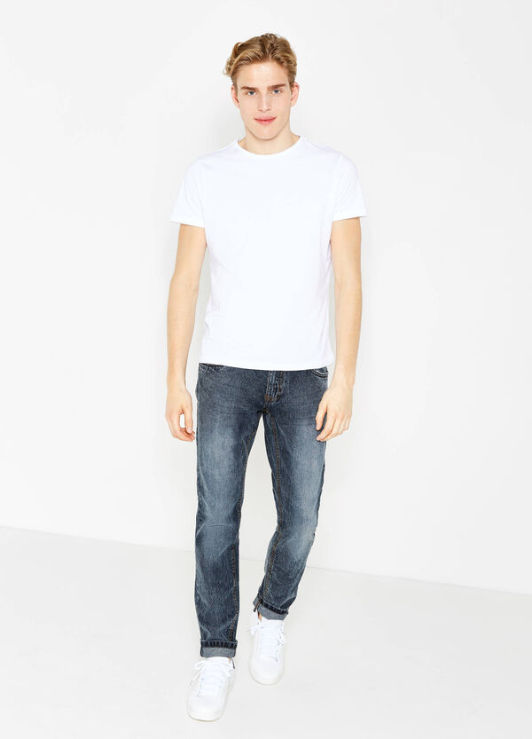 Misdyed effect slim-fit jeans | OVS