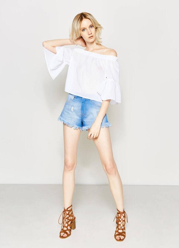 Shorts vaqueros de talle alto | OVS