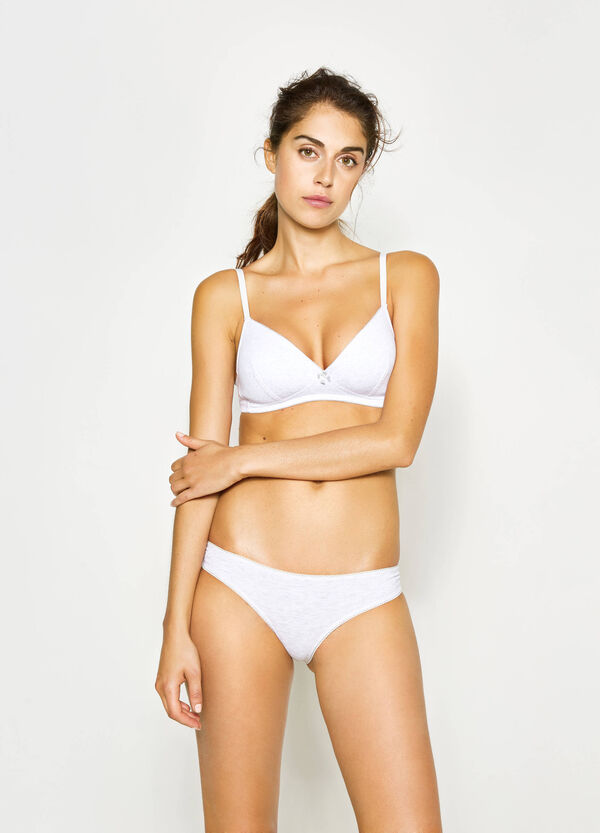 Set due reggiseni in cotone stretch | OVS