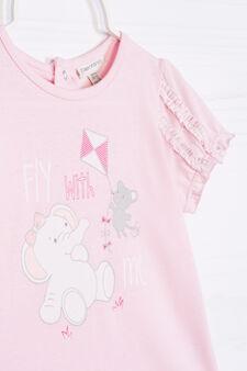 100% cotton printed pyjamas, Pink, hi-res
