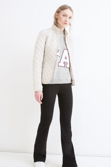 Quilted jacket with pockets, Chalk White, hi-res