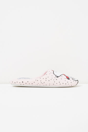 Slippers with Snoopy pattern, Light Pink, hi-res