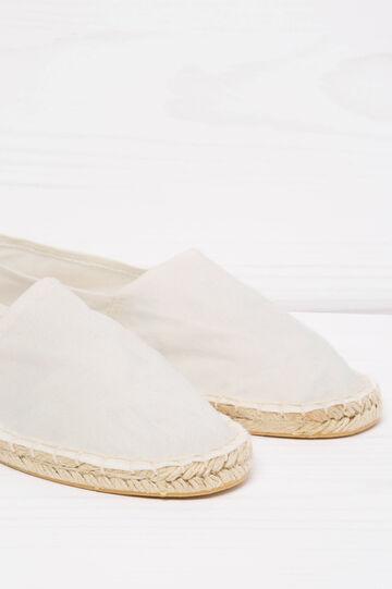 Espadrillas suola profilata in corda, Bianco panna, hi-res