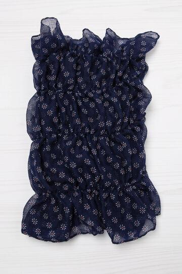 Sciarpa con stampa floreale, Blu navy, hi-res