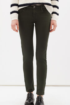 Plain stretch trousers, Army Green, hi-res