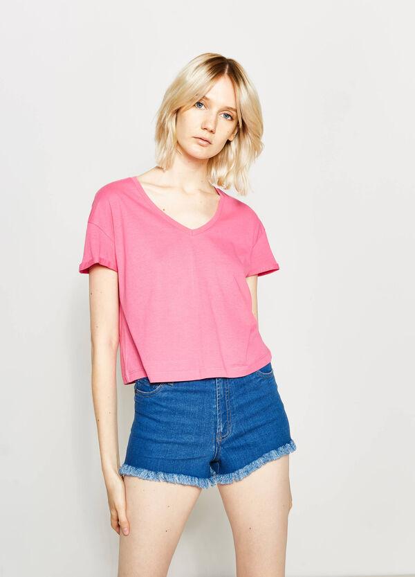 Camiseta corta en algodón 100% | OVS
