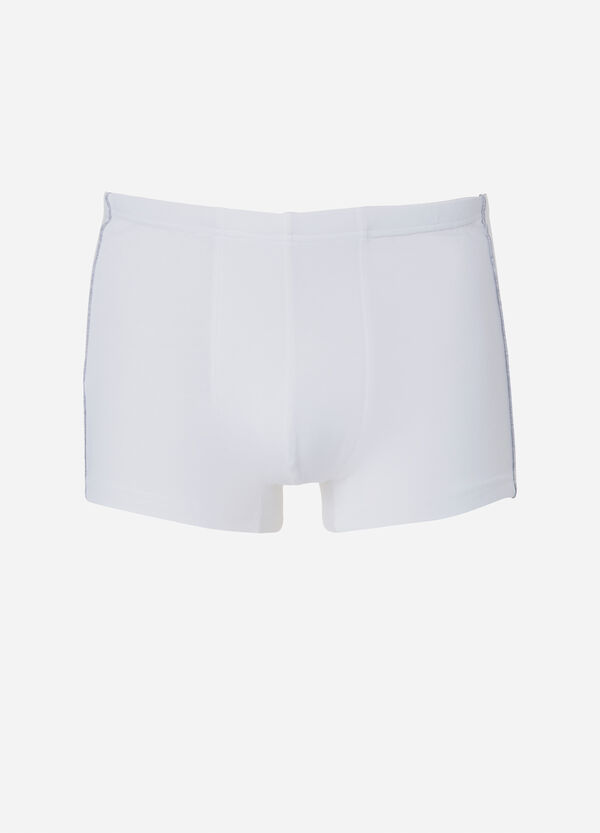 Solid colour stretch cotton boxer shorts | OVS