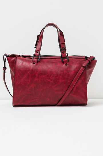 Solid colour shoulder bag, Red, hi-res