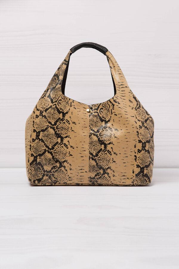 Snakeskin look shoulder bag | OVS
