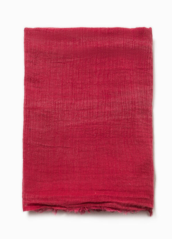 Fringed scarf in 100% cotton | OVS
