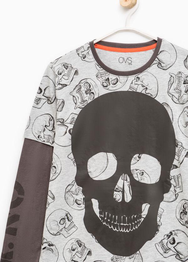 Skull pattern cotton T-shirt | OVS