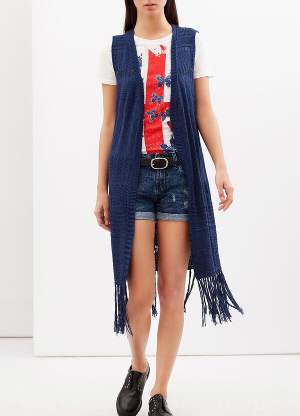 Long cardigan with fringe | OVS