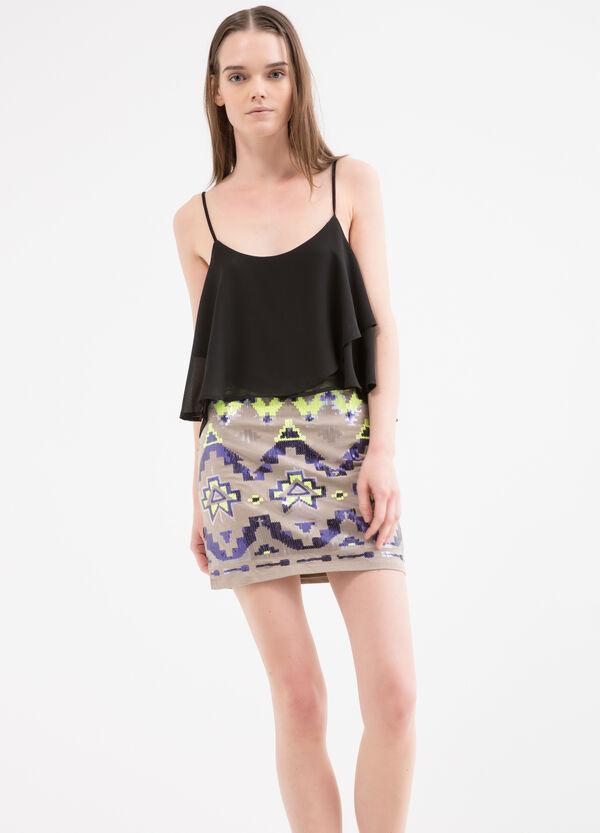 Miniskirt with sequins | OVS
