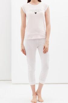 Full-length pyjamas in 100% cotton, Pink, hi-res