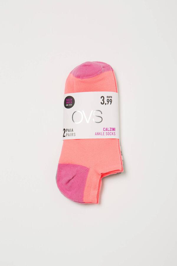 Set due paia di calze in cotone stretch | OVS