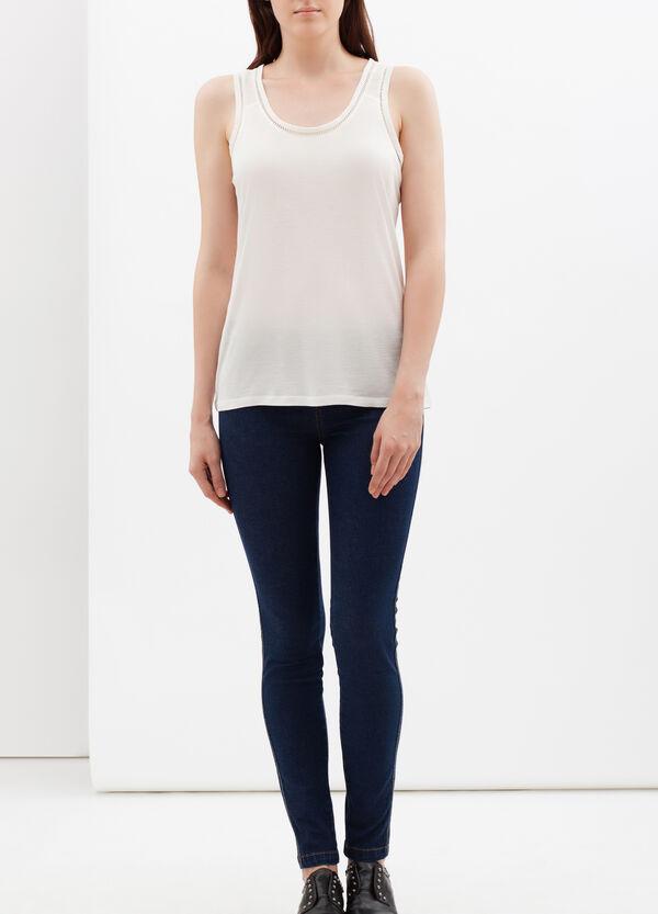 Vest with openwork trim | OVS