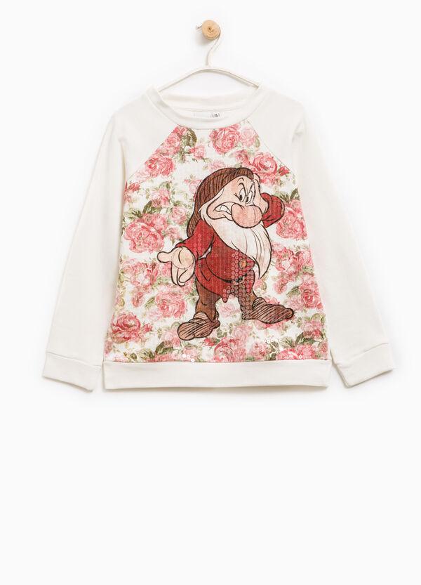 Seven Dwarves print cotton sweatshirt | OVS